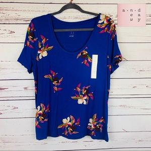 NWT A New Day Floral Print Top